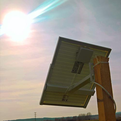 Vadalarm Solarzelle